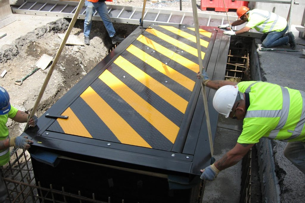 Installation of road blocker