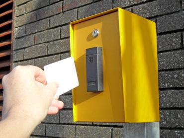 Avon proximity card reader in housing