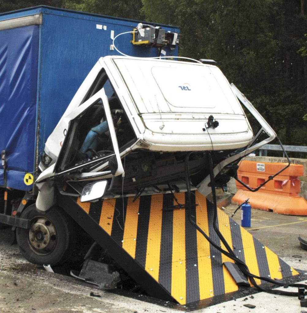 Impact tested road blockers