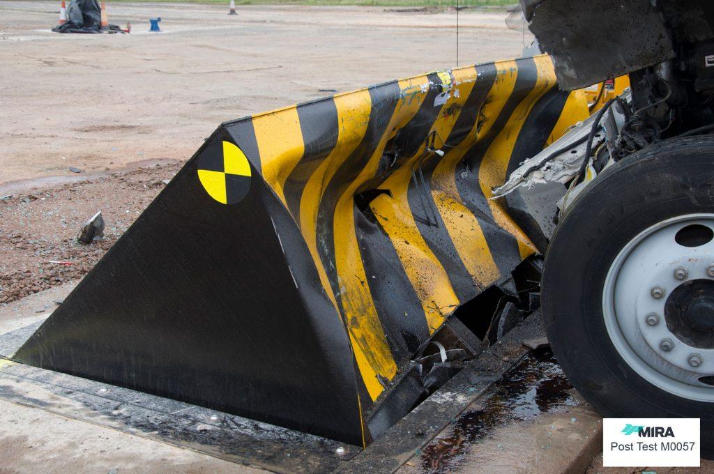 ASTM 50 P1 Road blocker impact tested