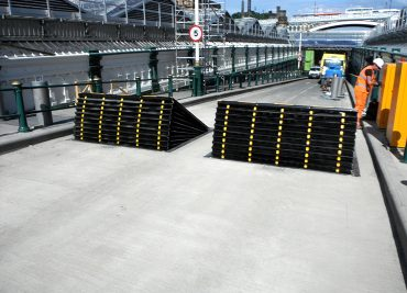 PAS 68 Shallow foundation road blockers