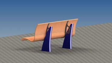 IWA14-1 Street Furniture bench